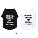 M-L シンプルロゴTシャツ(White/Black) TT101006-2