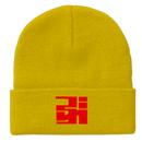 ニットキャップ/logo-YELLOW