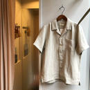 niuhans / French Linen Open Collar s/s Shirts  (Unisex)