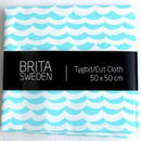 BRITA SWEDEN(ブリタ スウェーデン) カットクロス(50cm X 50cm) 《Overseas 波プリント ブルー》  のコピー