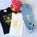 タイガー goldプリントTシャツ//2color (90㎝~130㎝)