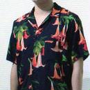 CITY datura print opencollar shirts