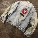 LOT, STOCK AND BARREL VINTAGE DENIM JACKET WITH CHAINSTITCHING
