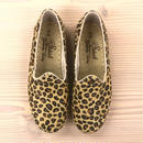 Sabah  (サバ)SLIP-ON nubuck leather LOOSE LEOPARD [HAIR-ON]