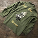 LOT, STOCK AND BARREL VINTAGE MILITARY SHIRTS WITH CHAINSTITCHING