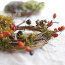 増田由希子さんのリース「鳥の巣」〜赤い実