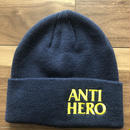 ANTI HERO  ニットキャップ ブラックヒーロー ネイビー