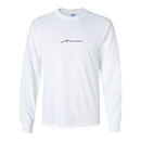 EMBROIDERY LOGO L/S TEE - White