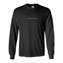 EMBROIDERY LOGO L/ S TEE - Black