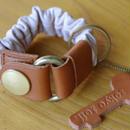 key bracelet ブラウン×シルバー  のコピー