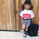 (即納♡)(kids)赤ロゴコカコーラTシャツ