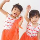 (即納♡)(kids☆)フラミンゴ柄チュールワンピ―ス
