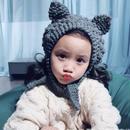 (即納☆❤︎ ネコちゃんニット帽(グレー)(ホワイト)