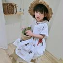 即納♡)(kids☆ホワイト刺繍ワンピース