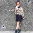 (即納♡)(kids☆)秋♡新作♡レオパード柄裏起毛トップス&BLACK長袖ワンピース2点セット