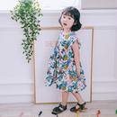 (即納♡)(kids☆)袖フリルパイナップル柄ワンピース