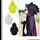 (即納♡)(kids☆)恐竜ブラックパーカー