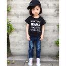 (即納♡)(kids☆)ブラックロゴT&ダメージデニム 2点セット