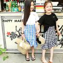 (即納♡)(kids☆)ギンガムチェックマーメイドスカート