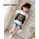 (即納♡)(kids☆)レースキャミTシャツ(ブラック)