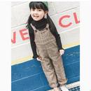 (即納♡)(kids☆)グレンチェック柄サロペット