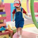 (即納♡)(kidS)アラレちゃんコスプレ♡Tシャツ&サロぺット&メガネ&ソックス&帽子5点SET(  男の子)