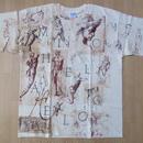 ミケランジェロ デッサン スケッチ 総柄 TシャツXL Michelangelo 彫刻 絵画 マルチ ダビデ像 ピエタ アダムの創造 美術館 芸術ART現代美術【deg】