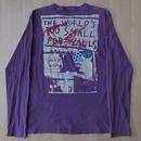 90's ポール スミス THE WORLD'S TOO SMALL FOR WALLS 長袖 Tシャツ L パープル Paul Smith ドイツ ベルリンの壁 崩壊【deg】