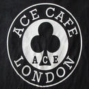 90's エースカフェ ロンドン サークル クローバー ロゴ Tシャツ S ACE CAFE LONDON ROCKERS ロッカーズ モッズ ノートンBSAトライアンフ【deg】