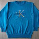 Calvin Klein オールド・デカCKロゴ刺繍入り・ニットセーター サイズ・不明(L~XL位)-689