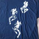 90's ダブリュー ケー インターアクト CLIMBING FIGURES Tシャツ XLブラックWK interact芸術ART現代美術 グラフィティBanksy バンクシー【deg】