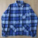 USA製 Engineered Garments チェック柄 ネル素材 カバーオール タイプ シャツ ジャケット MネペンテスNEPENTHESワークWORK薄手 ブルゾン【deg】