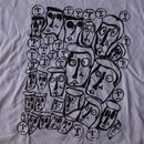 ドナルド バチェラー FOTOFOLIO CROWD Tシャツ L ホワイト コットン100% Donald Baechler 画家 彫刻家 アート ART芸術 現代美術 美術館【deg】