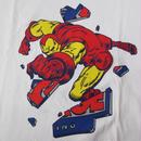 X-LARGE Marvel Comics コラボ Iron Man アイアンマン Tシャツ L 白 エクストララージ XLARGE マーベル コミック OGゴリラ アメコミ 映画【deg】