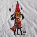 USA製 GARY BASEMAN RE-TARDY Tシャツ M 白 ホワイト ゲイリー ベースマン アニメ イラスト グラフィティ 芸術 ART 漫画 現代美術 美術館【deg】