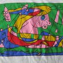 90's スペイン製 ジョアン・ミロ Tシャツ L M位 白 Joan Miro ミロ surrealism シュルレアリスム スペイン 絵画 ART 芸術 現代美術 美術館【deg】