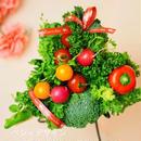 大好きなお母さんへ贈るハートの形がかわいいミニ野菜ブーケ【母の日のプレゼント用にご注文の場合5/7~13の期間中は発送数が多いため到着日指定不可、期間中にお届けします】