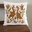 オトミ刺繍クッションカバー brown