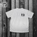 【TRESJAPAN】スパンデックスTシャツ(ホワイトピンストライプ)