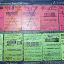 【イギリス】British Railwaysの使用済み大判切符 2色(各5枚計10枚)セット