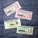 【ポーランド】1990年代前半のバスチケット 4種各5枚(計20枚)セット