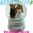 オルゴール テディベア ウォータードーム 結婚行進曲 結婚祝い i0184