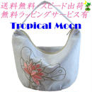 ミニバッグ ロータス 刺繍 ホワイト ハンドメイド ベトナム雑貨 v0880