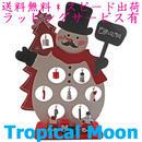 クリスマス ツリー 木製 ミニ スノーマン かわいい ハンドメイド 雑貨 i0261