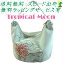 ミニバッグ ロータス 刺繍 アイスグリーン ハンドメイド ベトナム雑貨 v0882