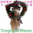 クリスマス 飾り お正月 スノーマン リース 松ぼっくり パインコーン オブジェ オーナメント i0268