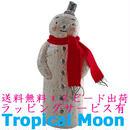 クリスマス 飾り オーナメント オブジェ スノーマン 陶器 ハンドメイド i0270