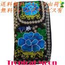 ウォレット 花 刺繍 ベトナム 雑貨 2way スマートフォンケースつき v0954