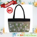 ビーズ 刺繍 バッグ アンバー 花柄 ベトナム製 ハンドメイド シルク v1061