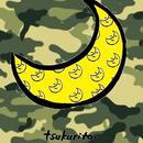 ポケット付きトートバック 迷彩の月